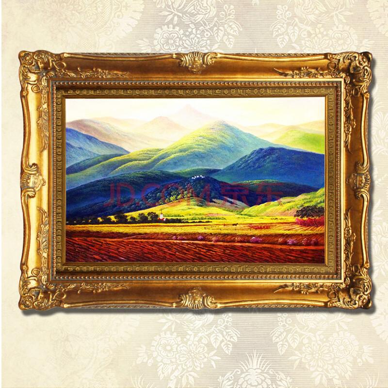普瑞德斯纯手绘油画风景油画装饰画客厅油画挂画酒店《巨人山》七天内