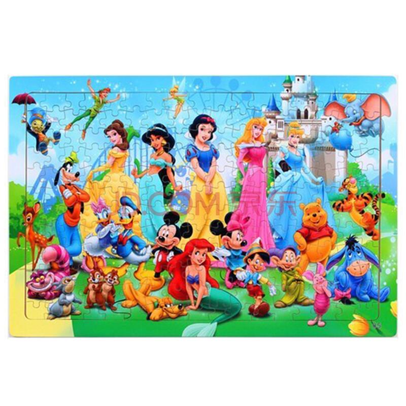 200片木质拼图 儿童益智木制玩具 迪士尼大团圆
