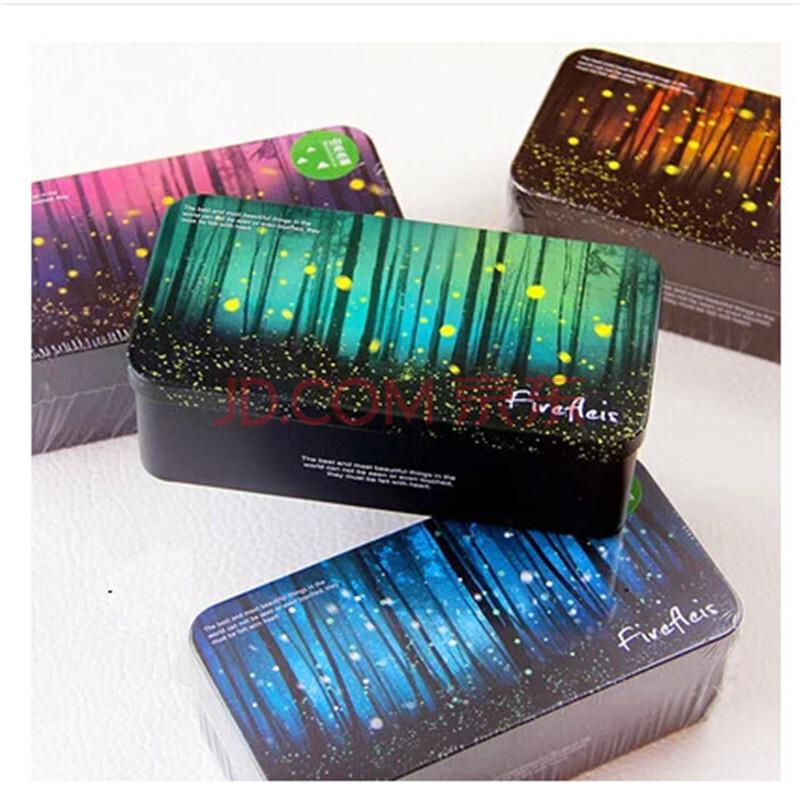 萤火森林收纳盒马口铁盒学生文具盒铅笔盒糖果礼品盒单层储物盒