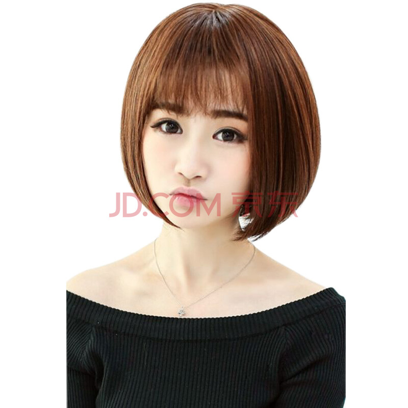 假发女短发bobo头沙宣头薄卷齐刘海女生甜美发型假发