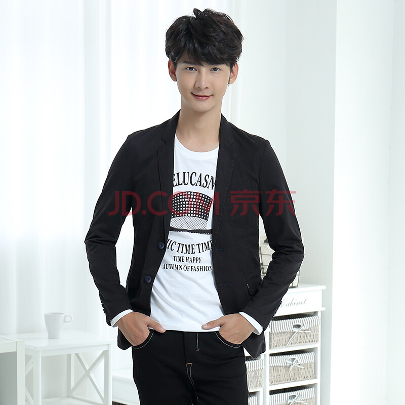 潮流前线 2015男士休闲西服外套韩版青少年小西装修身