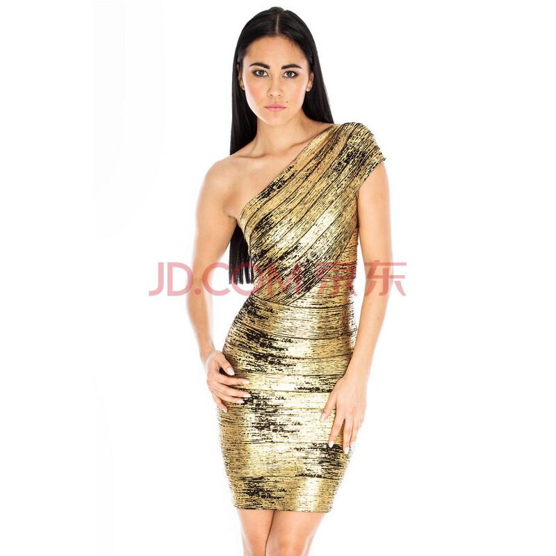 金色连衣裙