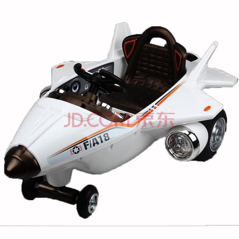 儿童电动车 童车四轮带遥控双驱可坐电动汽车玩具车飞机 2.
