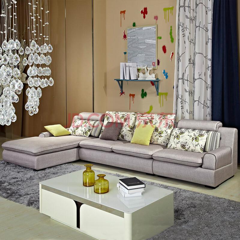 小户型1 3 妃组合沙发 现代简约客厅功能沙发 枫叶色 三人位 左妃位