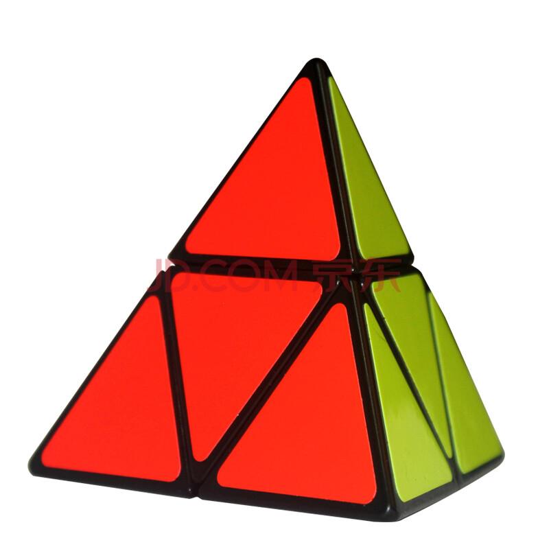 新品圣手魔方二阶金字塔魔方三角形异形魔方顺滑比赛专用益智玩具 白