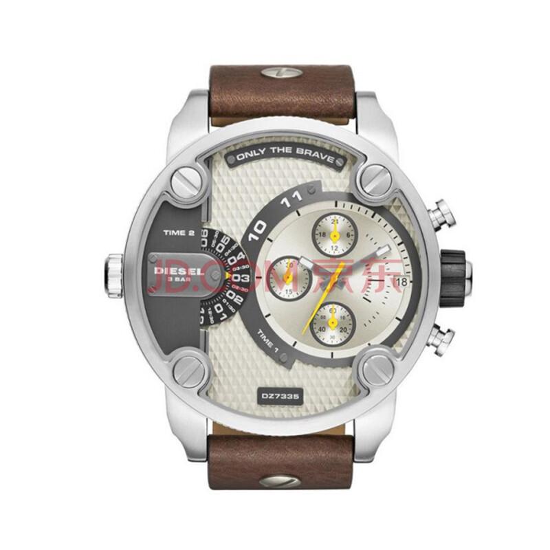 diesel/迪赛手表 大表盘个性三眼计时男士手表 dz7335
