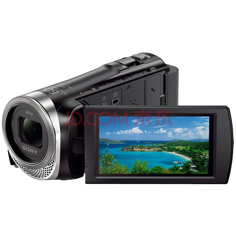 索尼(SONY)HDR-CX450 高清数码摄像机 光学防抖 30倍光学变焦 蔡司镜头 支持WIFI/NFC传输