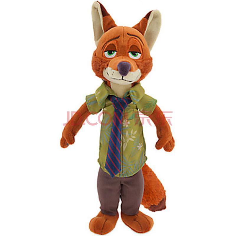 疯狂动物城 兔子朱迪 狐狸尼克 毛绒公仔玩偶玩具 狐狸尼克 23cm图片
