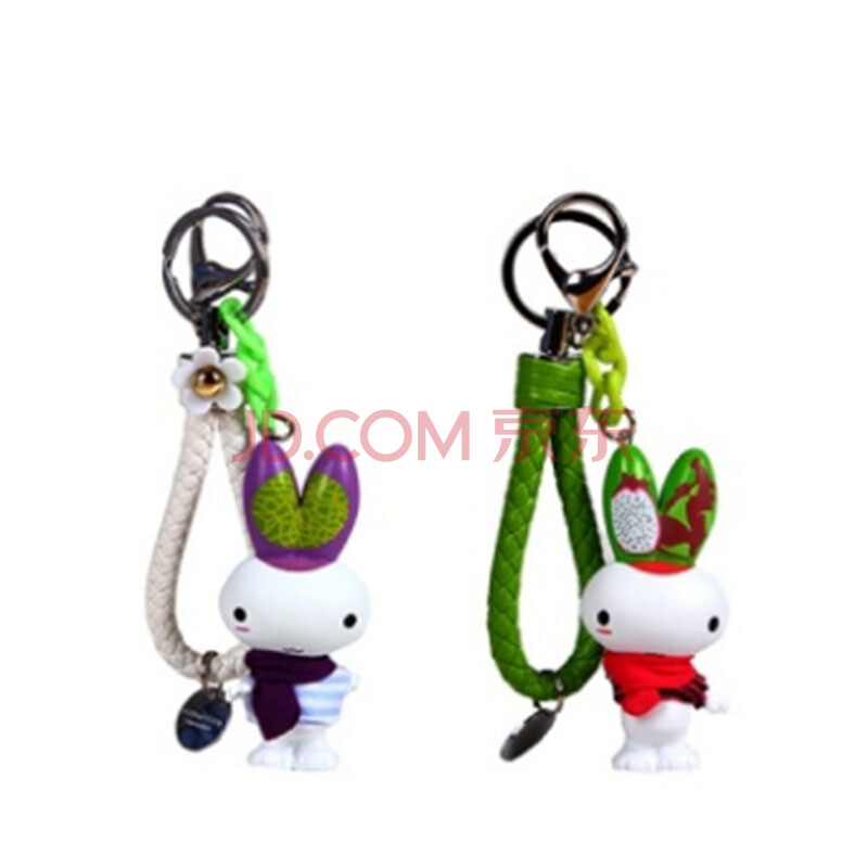 卡通水果绳挂件创意情侣挂扣车钥匙挂扣包包挂件颜色随机发单个价