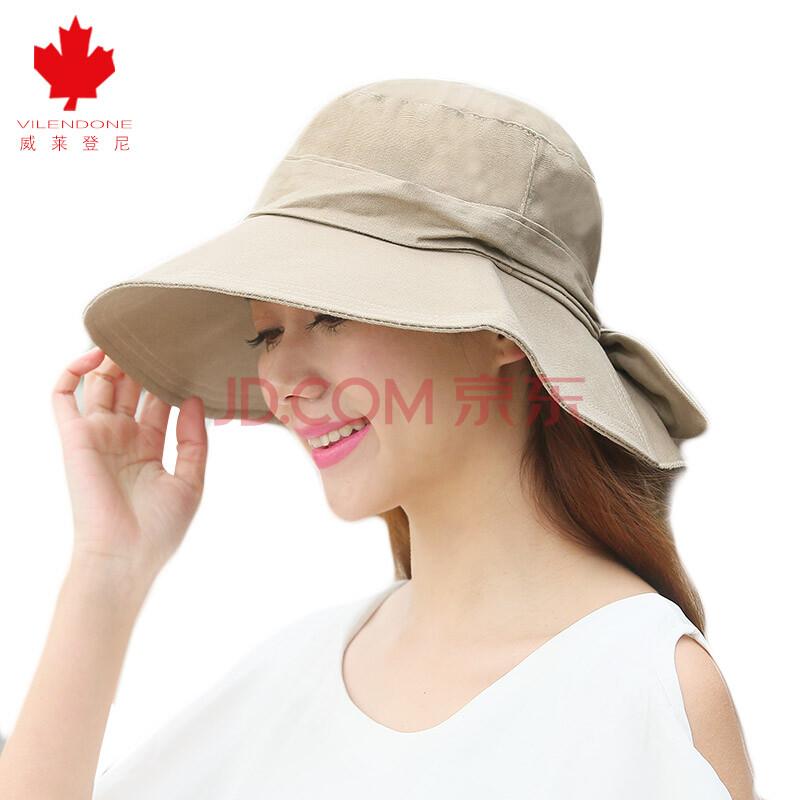 可折叠遮阳帽女