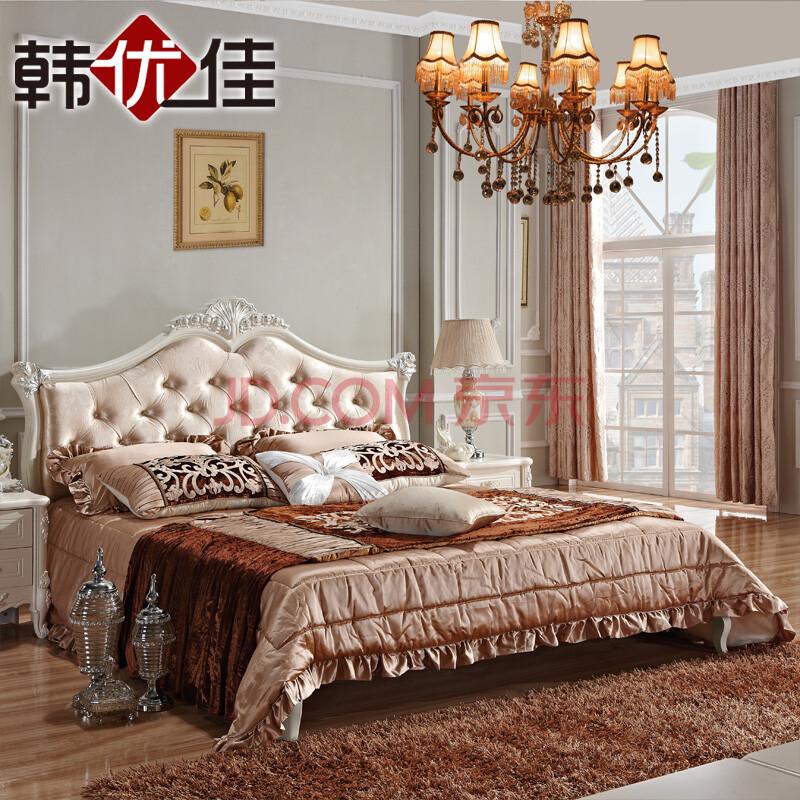 欧式奢华雕花双人床图片