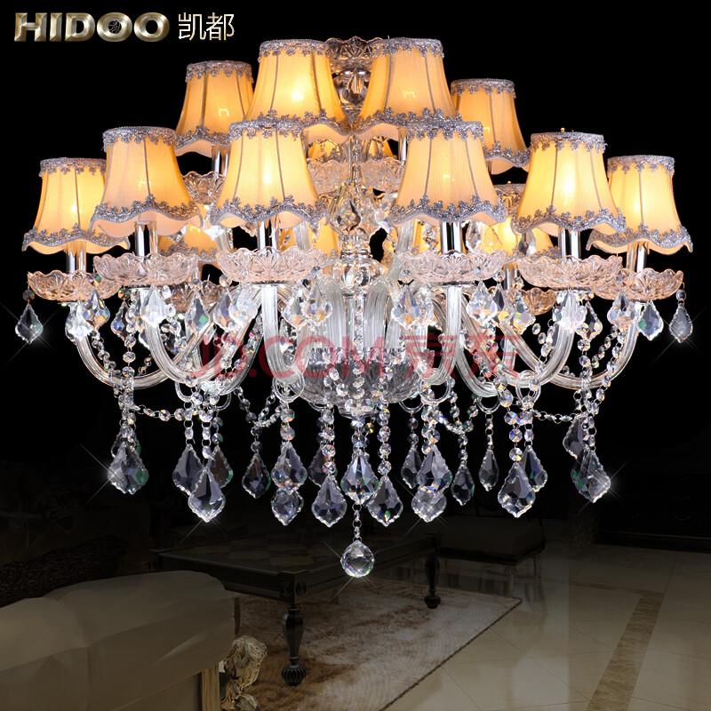 吊灯简欧式水晶灯客厅灯饰美式大厅灯罩现代