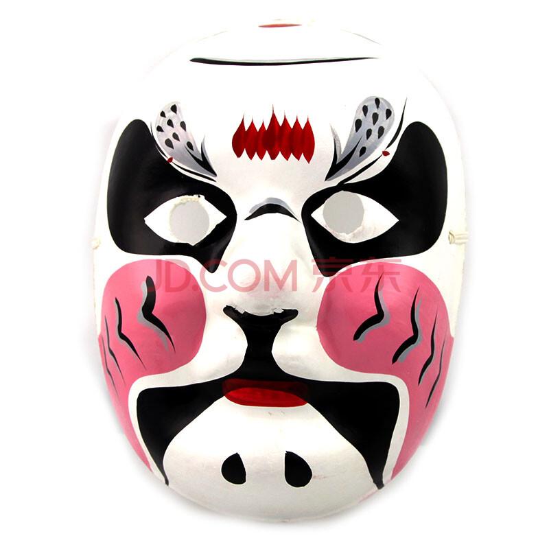 盛泉 手绘石膏纸浆面具 中式国粹 变脸道具 工艺京剧脸谱面具 鲁智深