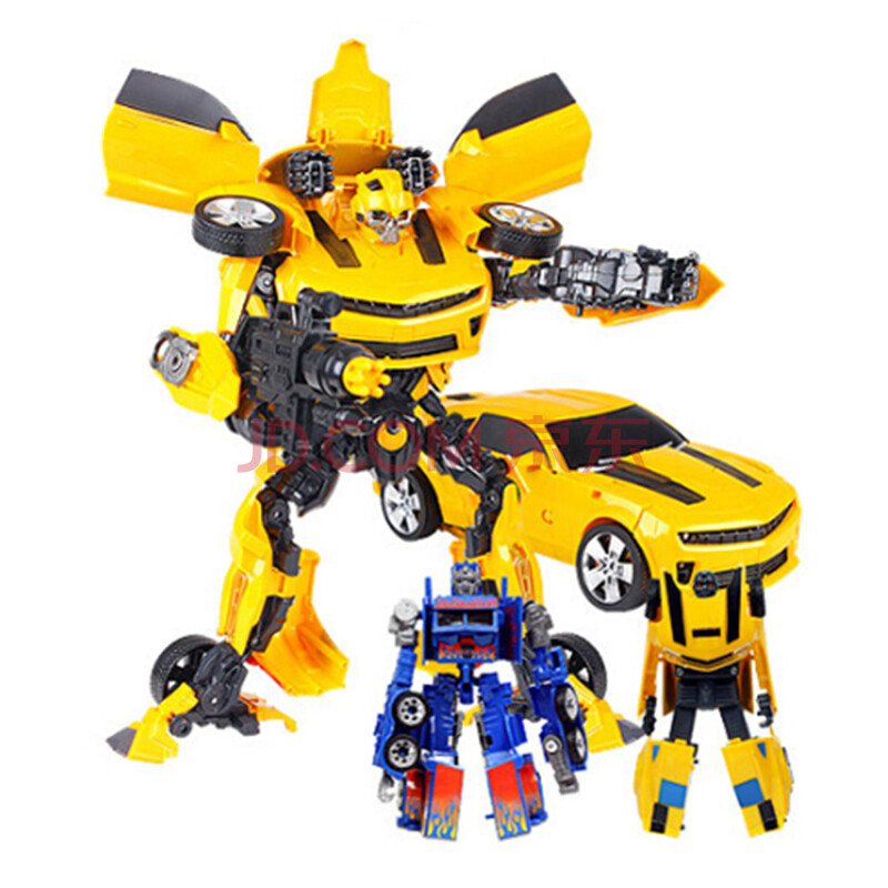 德馨 变形金刚4玩具擎天柱大黄蜂 擎天柱55cm发声发光汽车机器人模型