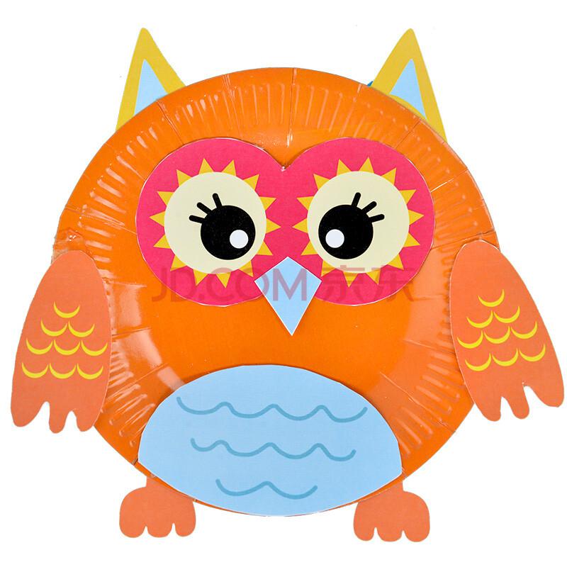 蘅芜(hw) 手工制作diy彩色单张纸盘画动物材料儿童益智粘贴类贴纸贴画