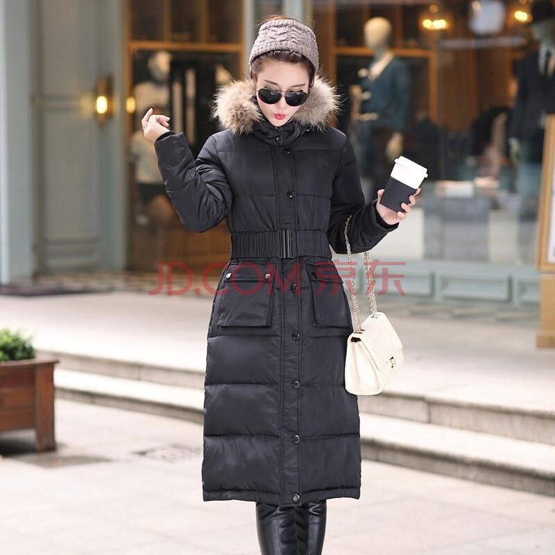 女装 羽绒服 欧以纯男 欧以纯男冬季新款迷彩韩潮长大衣羽绒服带腰带