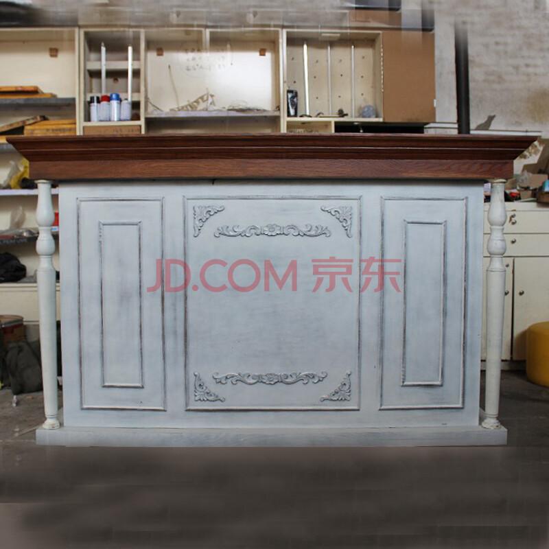 ergonice欧式美容院接待台服装店吧台美式复古收银台