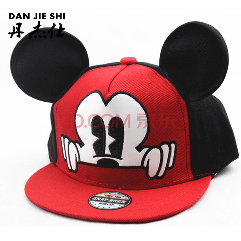 新款青少年小学生儿童卡通米其大耳朵刺绣棒球帽子 夏天太阳帽街舞