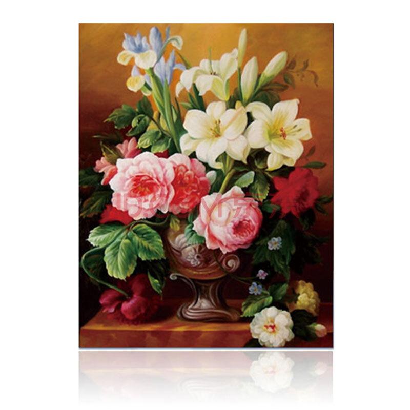 俊艺 数字油画客厅风景花卉人物情侣结婚客厅手绘装饰