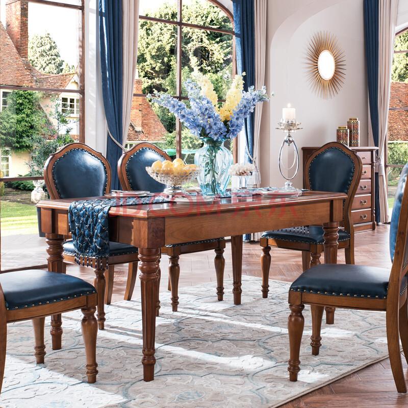 别墅长方形餐桌图片