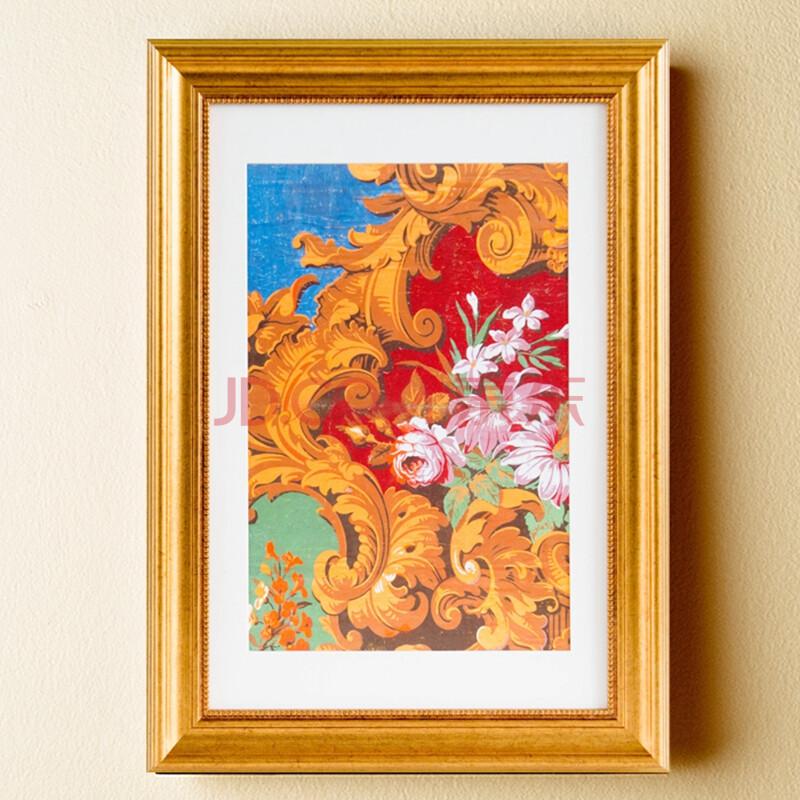 贝占风格 巴洛克图腾 美式客厅装饰画欧式有框花卉画
