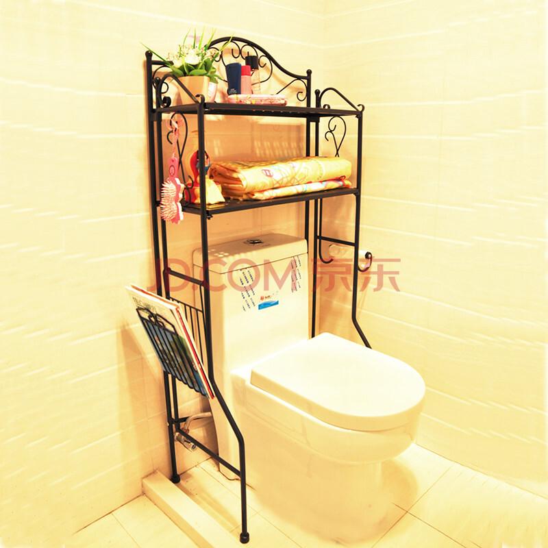 福韬马桶架子厕所坐便器架浴室收纳架卫生间置物架毛巾架牙刷架浴室用品小型洗衣机架免打孔 FTR001