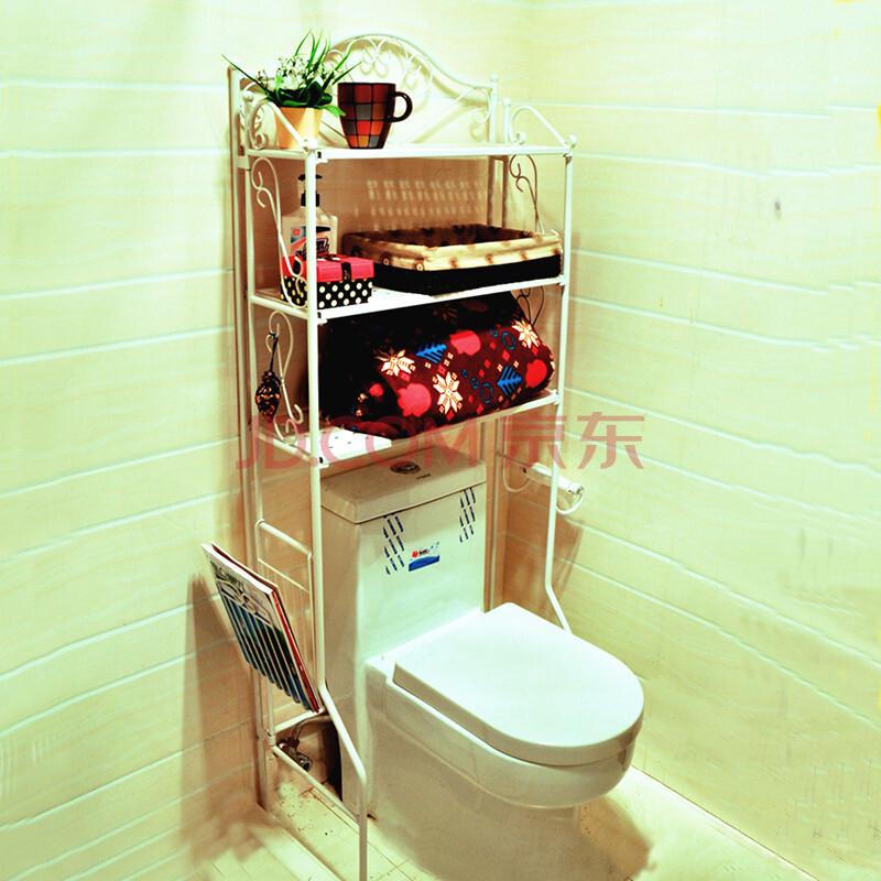 福韬卫生间置物架马桶架置物架免打孔卫生间架子卫浴用品收纳架洗衣机架免组装多功能架