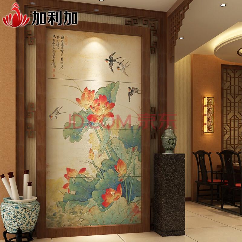 加利加 瓷砖背景墙 中式客厅玄关背景墙 文化石/仿古砖 夏至 精雕图片