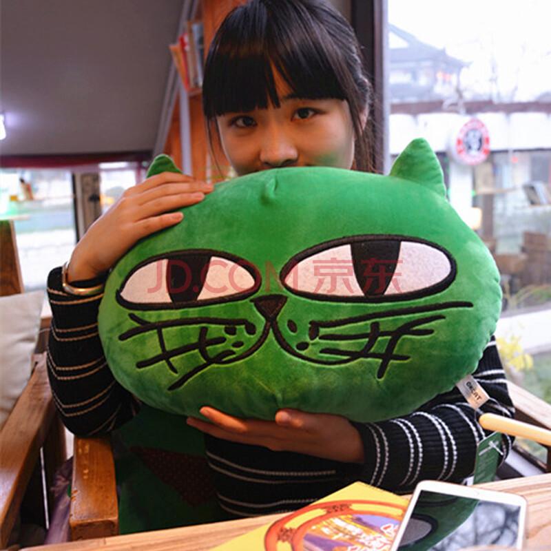 正版大号okcat玉泽演原创吉祥玩偶2pm绿猫ok玉猫公仔毛绒玩具抱枕圣诞
