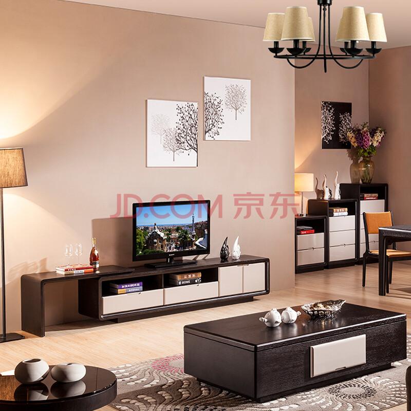 思欧迪电视柜茶几组合墙套装简约现代客厅家具伸缩烤漆北欧电视机柜