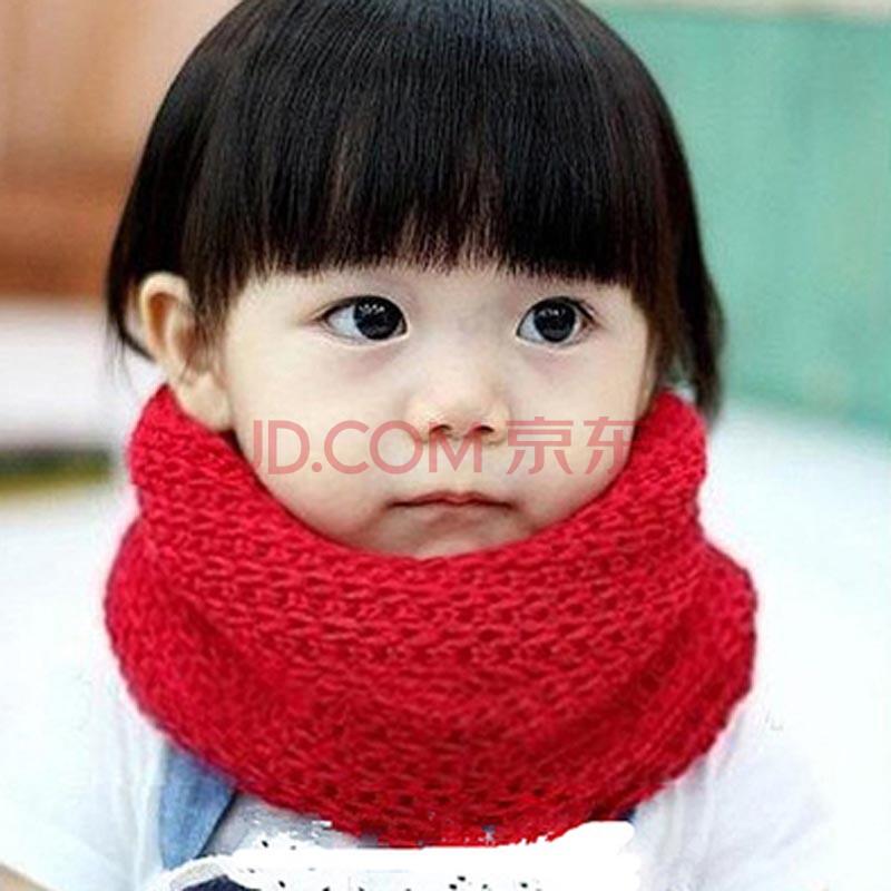 儿童毛线围巾小孩宝宝保暖围脖婴儿