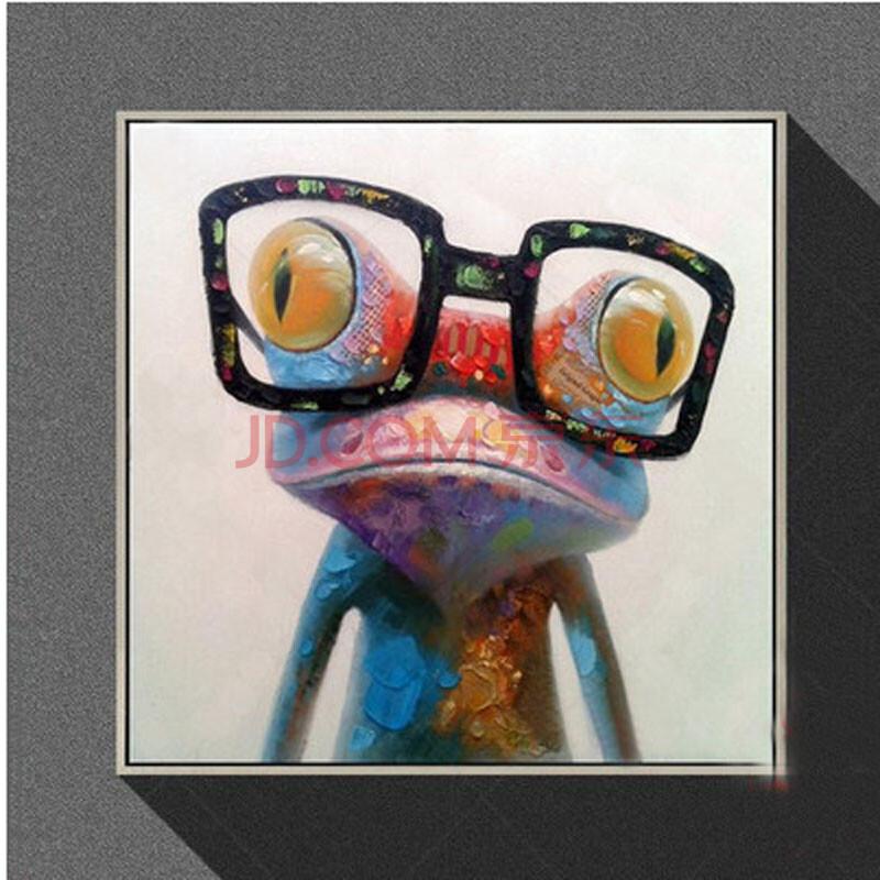 新陵 现代艺术简约装饰画 卡通动物手绘抽象画 客厅沙发墙画 电表箱挂