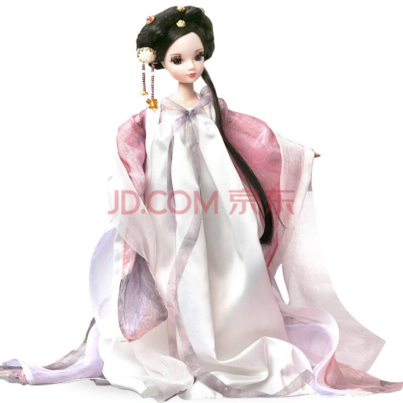 可儿娃娃古装芭比娃娃唐韵佳人套装海棠仙子衣服关节体女孩玩具 白蛇