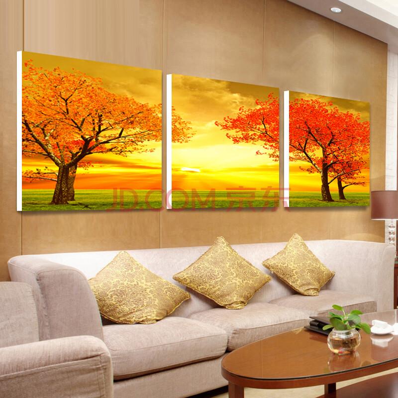庭艺 现代客厅简约水晶装饰画黄金大道墙画 卧室温馨壁画挂画无框画