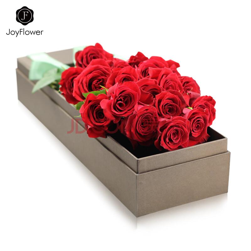 joyflower进口鲜花厄瓜多尔玫瑰礼盒花束roseonly18支图片
