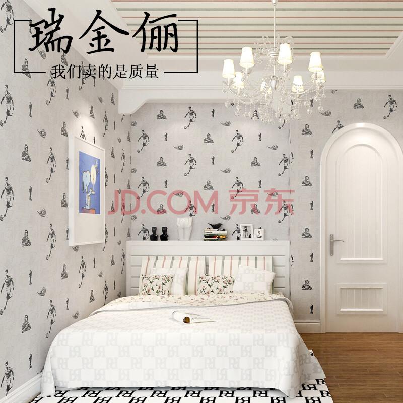 瑞金俪 欧式现代儿童房壁纸男孩温馨卧室 环保无纺布墙纸背景墙纸 r35图片