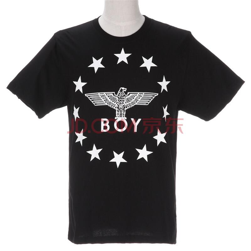 boy london(伦敦 男孩) 男士黑色老鹰星星logo 短袖t恤 j1011 blk m