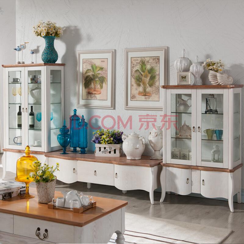 酒柜 玻璃门酒柜 实木地柜 电视柜组合 地中海简约风格 地柜 高酒柜
