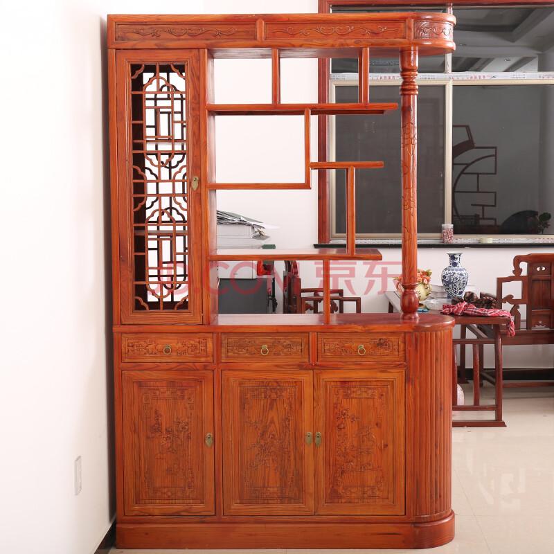 柜鞋柜酒柜中式实木榆木仿古家具