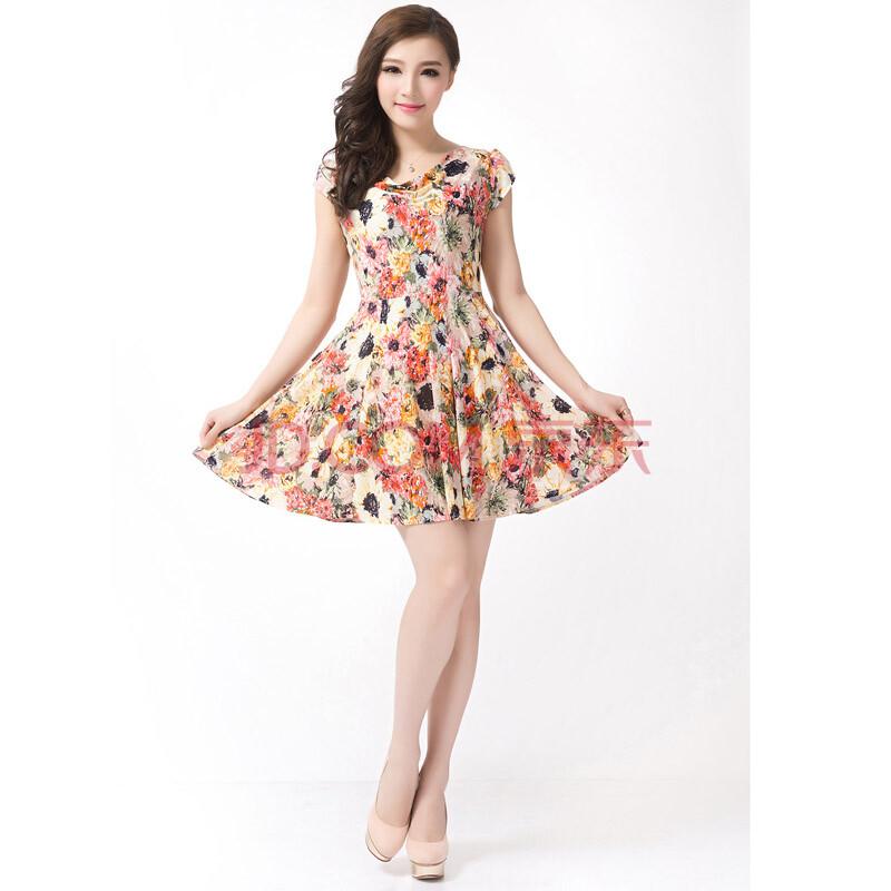 女装新�_【特价款】2016夏装女装新款连衣裙 时尚休闲韩版连衣裙 女士短袖