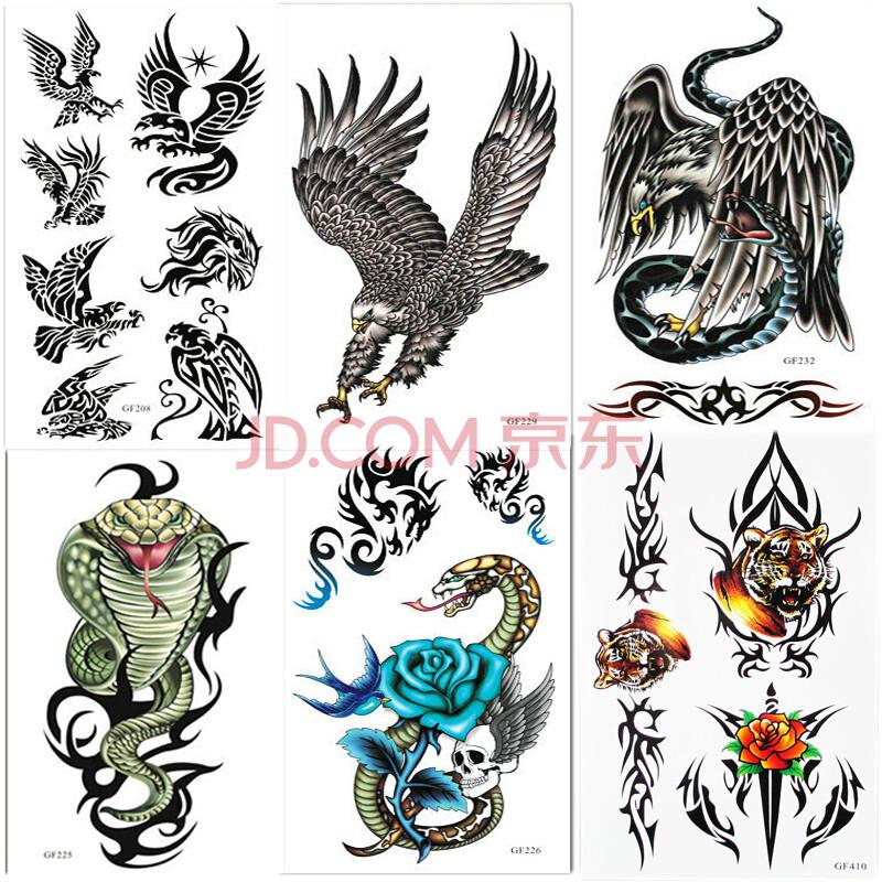 纹身贴防水纹身贴纸 diy老鹰图案贴纸批发 纹身贴眼镜