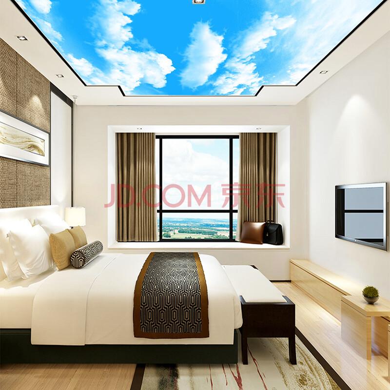塞拉维吊顶壁画 客厅卧室酒店大堂房顶装饰画3d立体背景墙壁纸墙布