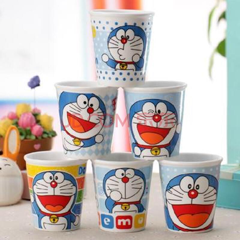 陶瓷杯子套装水杯 卡通创意马克杯 哆啦a梦套6杯带架图片