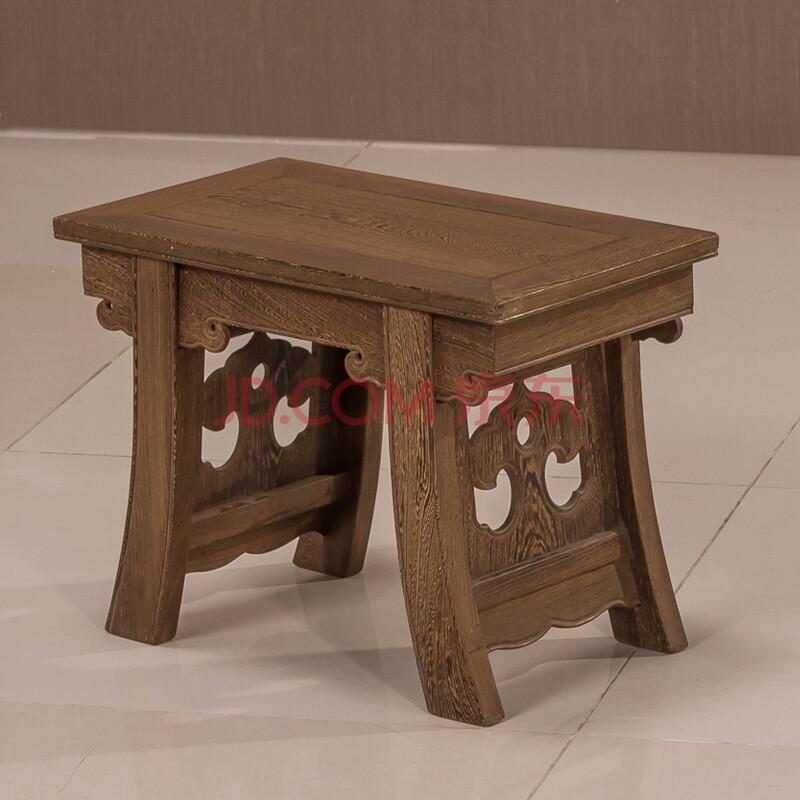 粤顺 红木凳子 实木板凳 客厅鸡翅木黄花梨木将军凳 仿古家具小矮凳小