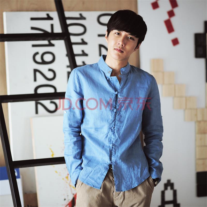 tiaota男装韩版长袖衬衫图片