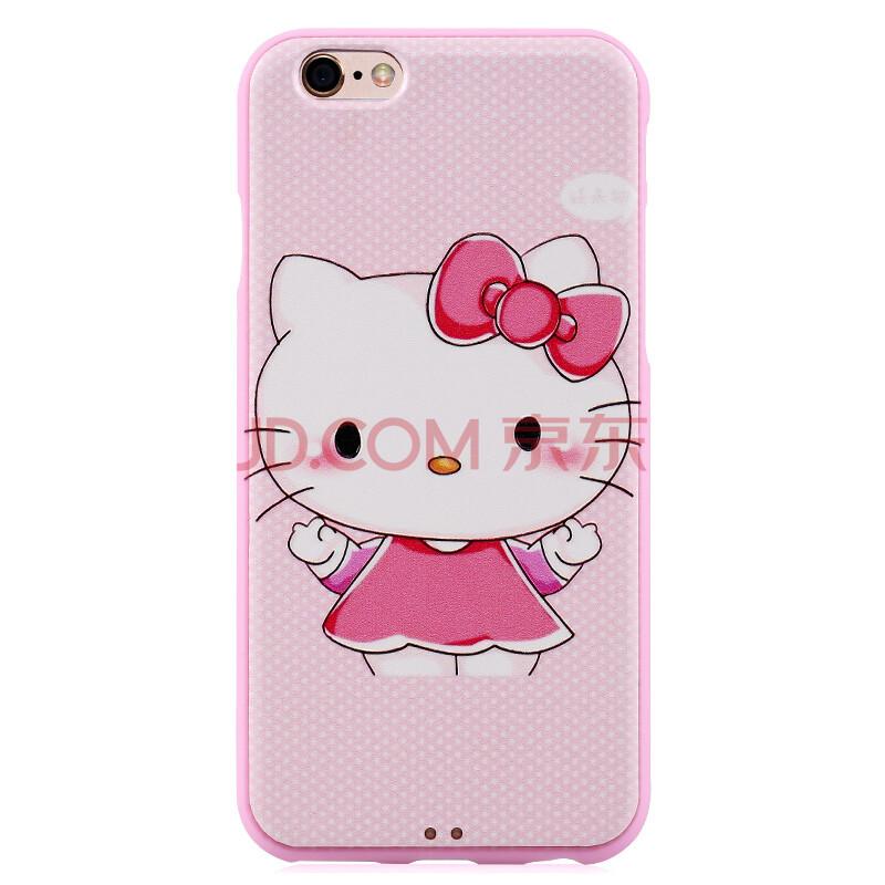 iphone6s手机壳 浮雕彩绘硅胶保护套 适用于苹果6/6s plus 可爱小猫