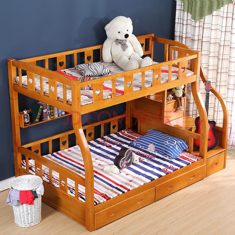 爱型特价地中海双层全实木床梯柜儿童床公主床上下床铺高低床子母床