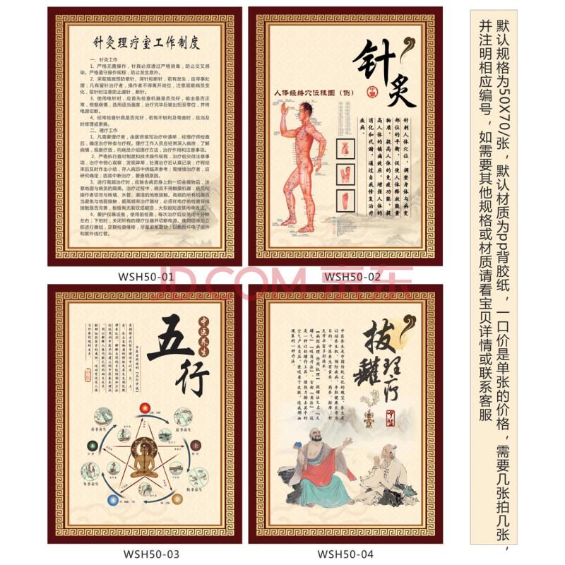 中医文化宣传挂图 针灸理疗室工作制度牌职责 宣传画墙贴画wsh50 户外
