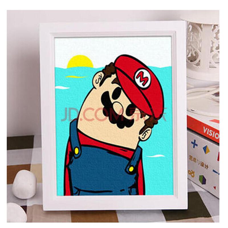 创意礼品手绘画 数字油画 客厅儿童动漫卡通手绘装饰画 多款可选 尺寸