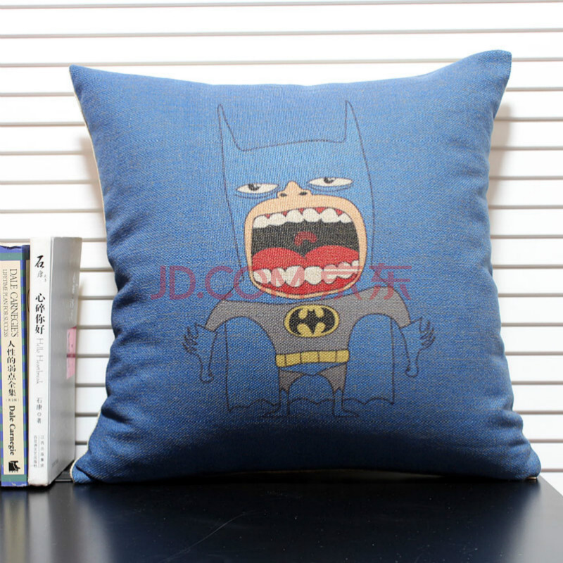 一橙布艺/美式卡通动漫风奇特创意抱枕 可定制枕套 欧美原创手绘靠枕